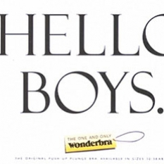 Hello Boys - Wonderbra Ad