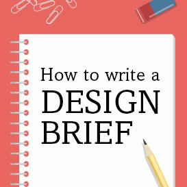How to write a design brief title image